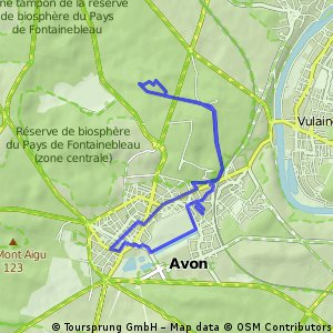 Cycling routes and bike maps in and around Fontainebleau Bikemap