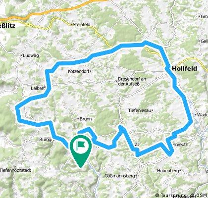 Heiligenstadt - Lindach - Hollfeld - Breitenlesau - Heiligenstadt