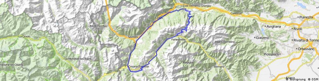 Route Marmotte Sestriere (Finestre en Sestriere)