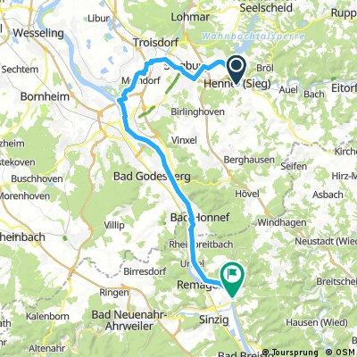 Siegtal - Linz am Rhein Radtour
