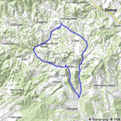Bozes - Bacaia - Cheile Cibului - Cib - Nadastia - Almasu de Mijloc - Almasu Mic de Munte - Balsa - Ardeu - Bozes