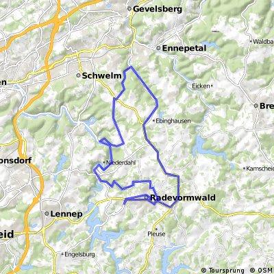 Radevormwald-Königsfeld-Spreelerweg-Beyenburg-Radevormwald