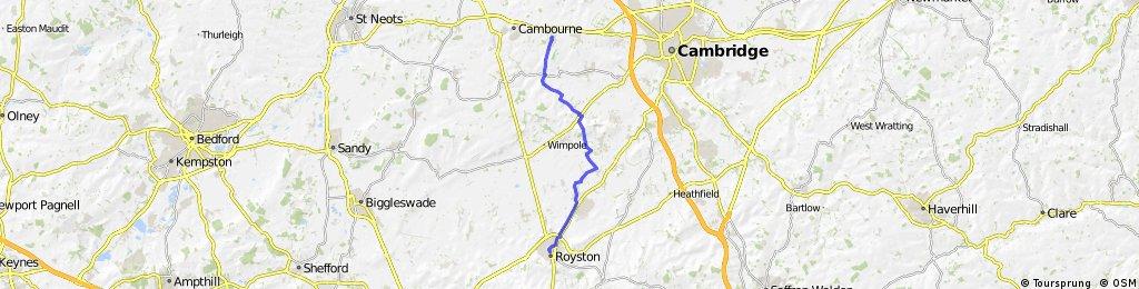 Highfields Caldecote to Royston