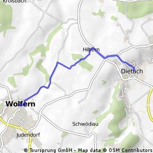 Dietach - Wolfern (Ortszentren, Umgehung von Hauptverkehrsstraßen)