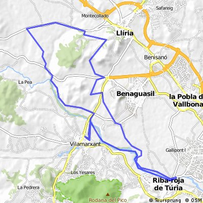 Ribarroja - Lliria - Villamarchante por CV376