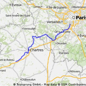 Paris -> Illiers Combray