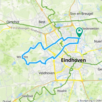 30 km - Rond Ehv airport