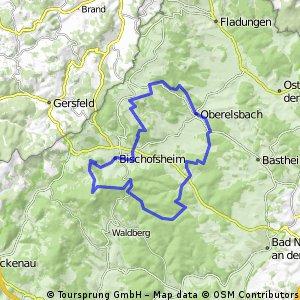 Burgwallbach über Schweinfurterhaus zum Kreuzberg Burgwallbach