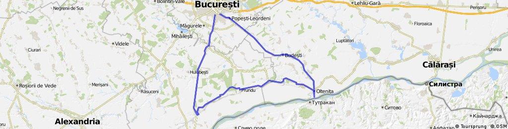 Bucuresti - Oltenita - Daia - Bucuresti