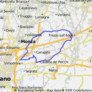 Da Cologno Monzese a Busnago