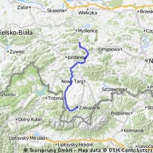 Mszana-Rabka_czarny Dunajec-Koscielisko-Zakopane