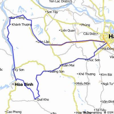 Hanoi-BaVi-Hoa Binh-Kim Boi-Xuan Mai-Hanoi(via TL415)