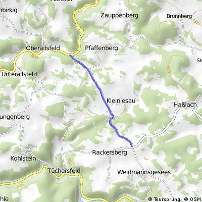 Anstieg Oberailsfeld Rackersberg