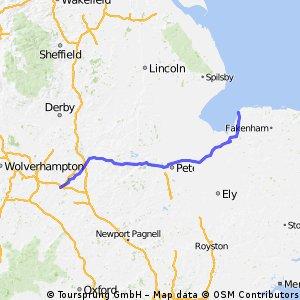 Coventry to Hunstanton.
