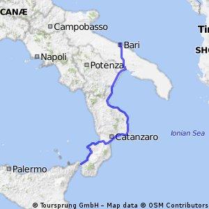Messina to Bari