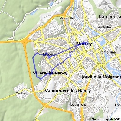 Cycling routes and bike maps in and around Nancy Bikemap Your