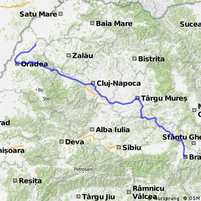 Braşov-Sighişoara-Târgu Mureş-Cluj Napoca-Oradea-Marghita