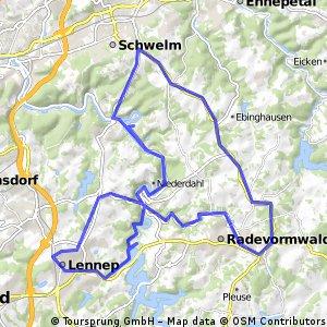 Lennep-Rade-Schwelm-Dahlhausen-Lennep
