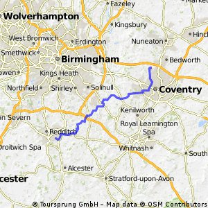 Redditch to Coventry