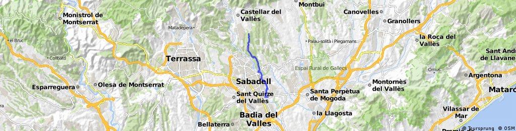 VIA VERDA RIU RIPOLL - MONTCADA I REIXACH - SABADELL PONT DE LA SALUT