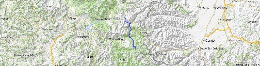 Col de La Bonette, retour vanaf Vars