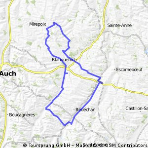 ansan - gimont - auch - 70km
