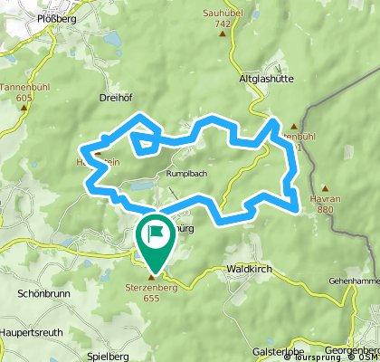 Flossenbürg-Haselstein-Kogeri-Silberhütte-Flossenbürg