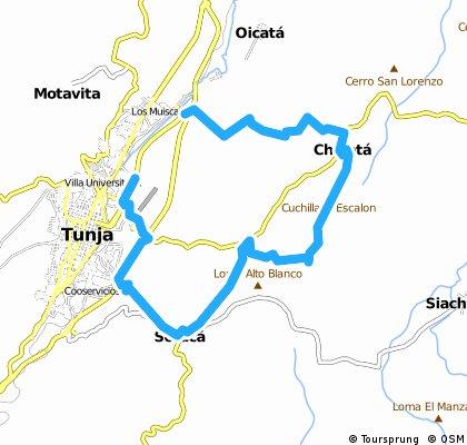 Ruta Tunja - Chivata - Soraca