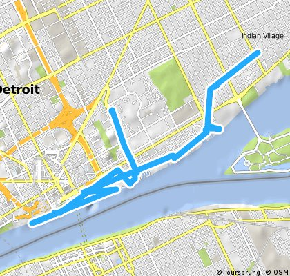 Craftworks To Riverfront To Cobo To Home 10 Miles