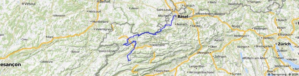 Jura Tour: Bellelay - Basel