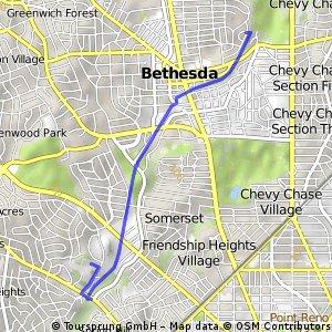 East Bethesda to Westland M.S.