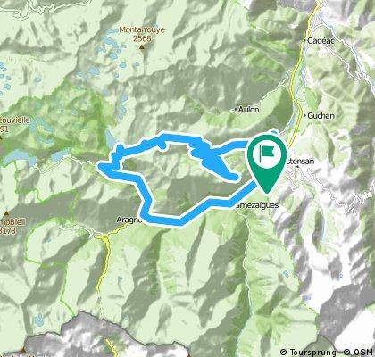 Pla d'Adet, Col de Portet and Lac de l'Oule