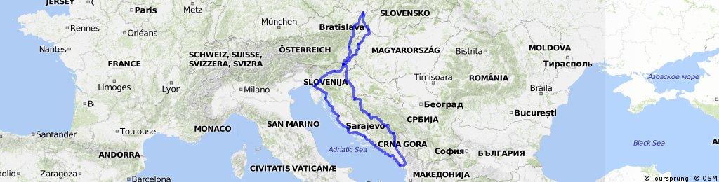Cykloexpedice - Balkán 2015