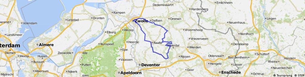 Sallandse heuvels vanuit Zwolle