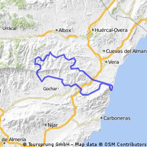 Mojacar Spain Map.Cycling Routes And Bike Maps In And Around Mojacar Pueblo Bikemap