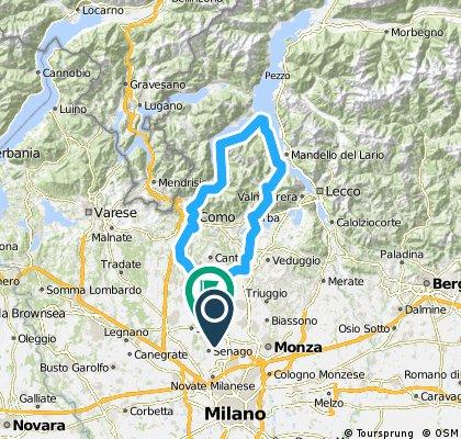 Cesano M-Erba-Bellaggio lungolago-Como