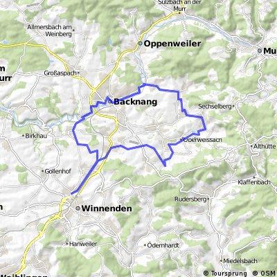Backnang Mittelbrüden 40 km kein MTB