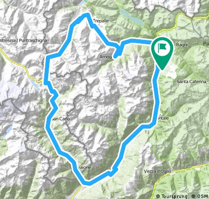 Tour > Bormio - Tirano - Forcola di Livigno - Livigno - Bormio