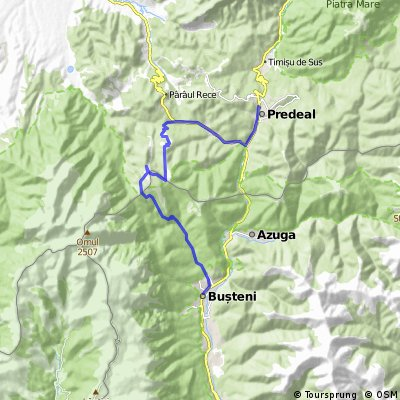 Predeal - Forban - Diham - Poiana Izvoarelor - Busteni