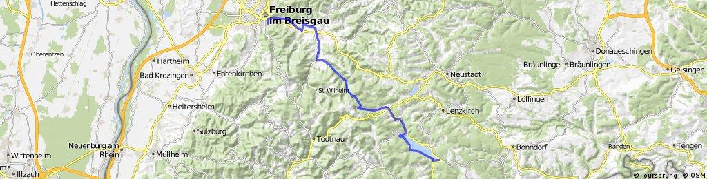 Schluchsee - Windgfällweiher - Feldsee - Rinken - Tastler - Freiburg