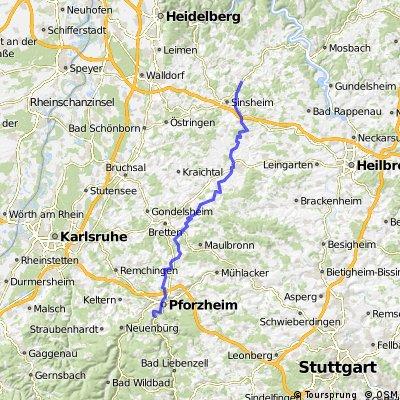 waibstadt - pforzheim