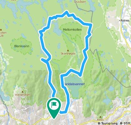 Ullevåseter - Skjærsjøen - Rottungen - Finntjern -Movann