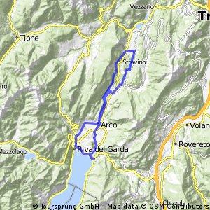 Torbole - Arco - Dro - Lago di Cavendine - Pietramurata - Riva del Garda - Torbole