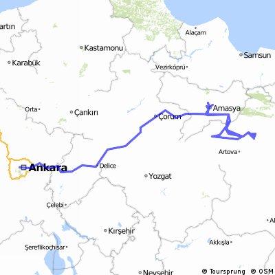 Ankara-Tokat-Amasya-Ankara