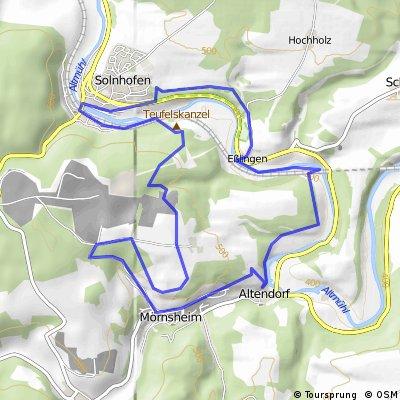 Sollnhofen - Mörnsheim - Sollnhofen