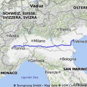 4. Etappe Turin Venedig