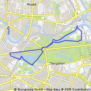Laufstrecke Tiergarten