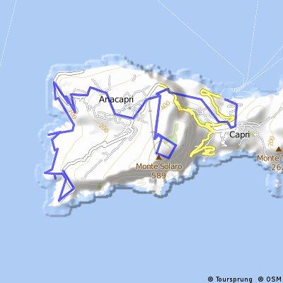 CAPRI Punta Carena-Sentiero Fortini-Monte Solaro-Scala Fenicia-Arco