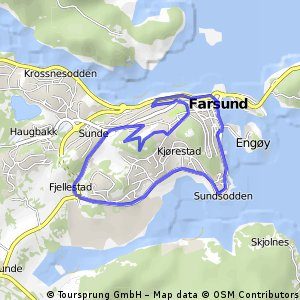 Cycling routes and bike maps in and around Farsund Bikemap Your