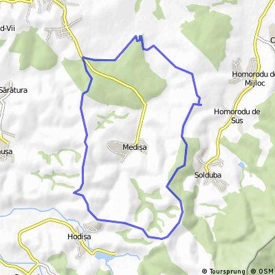 Tură de Viile Satu Mare către Hodisa via Medisa.